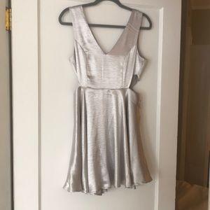 Silver cutout dress